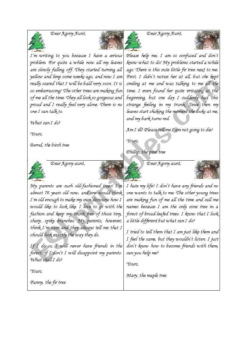 Dear Agony Aunt - ESL worksheet by nici2510