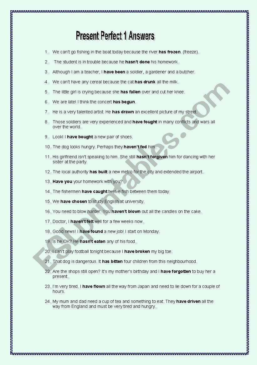 Irregular Past Participle Bingo - ESL worksheet by spinney