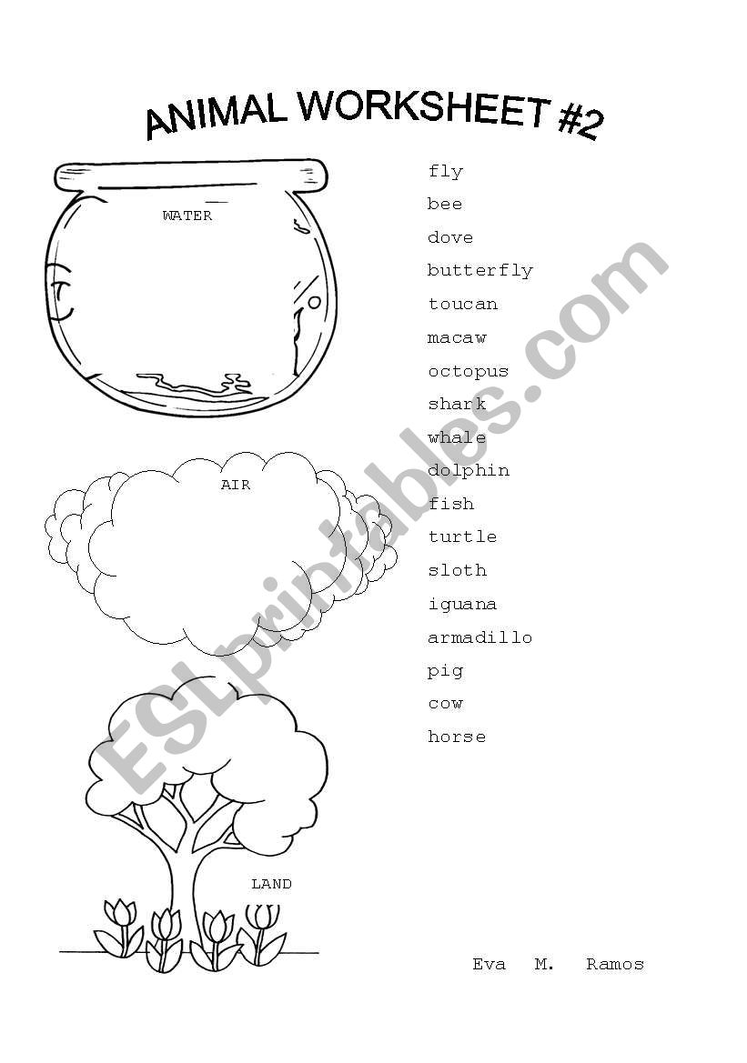 Animal Worksheet #2 worksheet