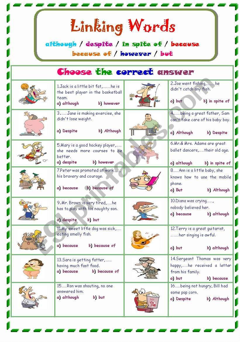 Linking Words... worksheet