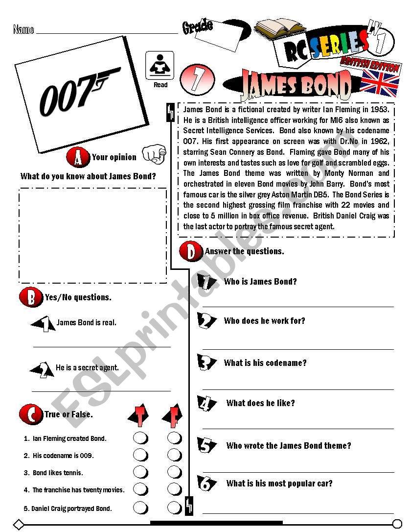 RC Series_British Edition_07 James Bond (Fully Editable + Key)