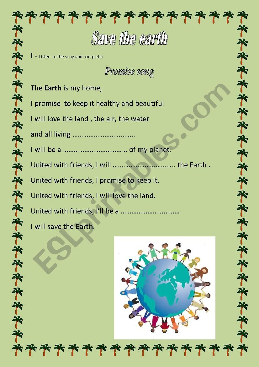 save the earth a lesson of the 9th grade esl worksheet by raihana. Black Bedroom Furniture Sets. Home Design Ideas