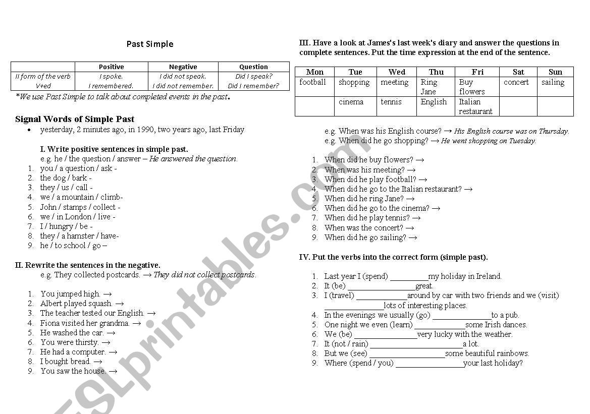 Past Simple/Present Perfect - ESL worksheet by Ilona85