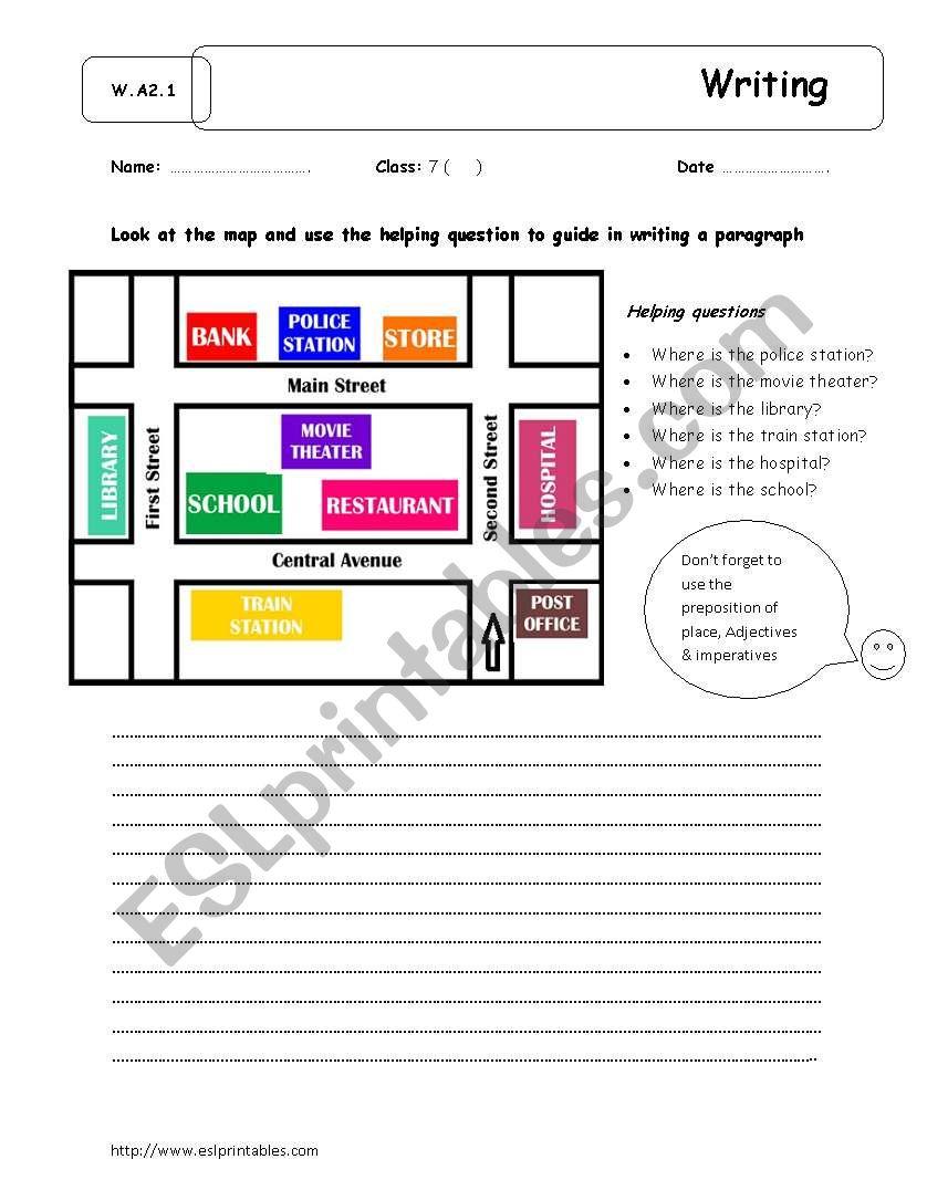 giving directions writing esl worksheet by yuri sama. Black Bedroom Furniture Sets. Home Design Ideas