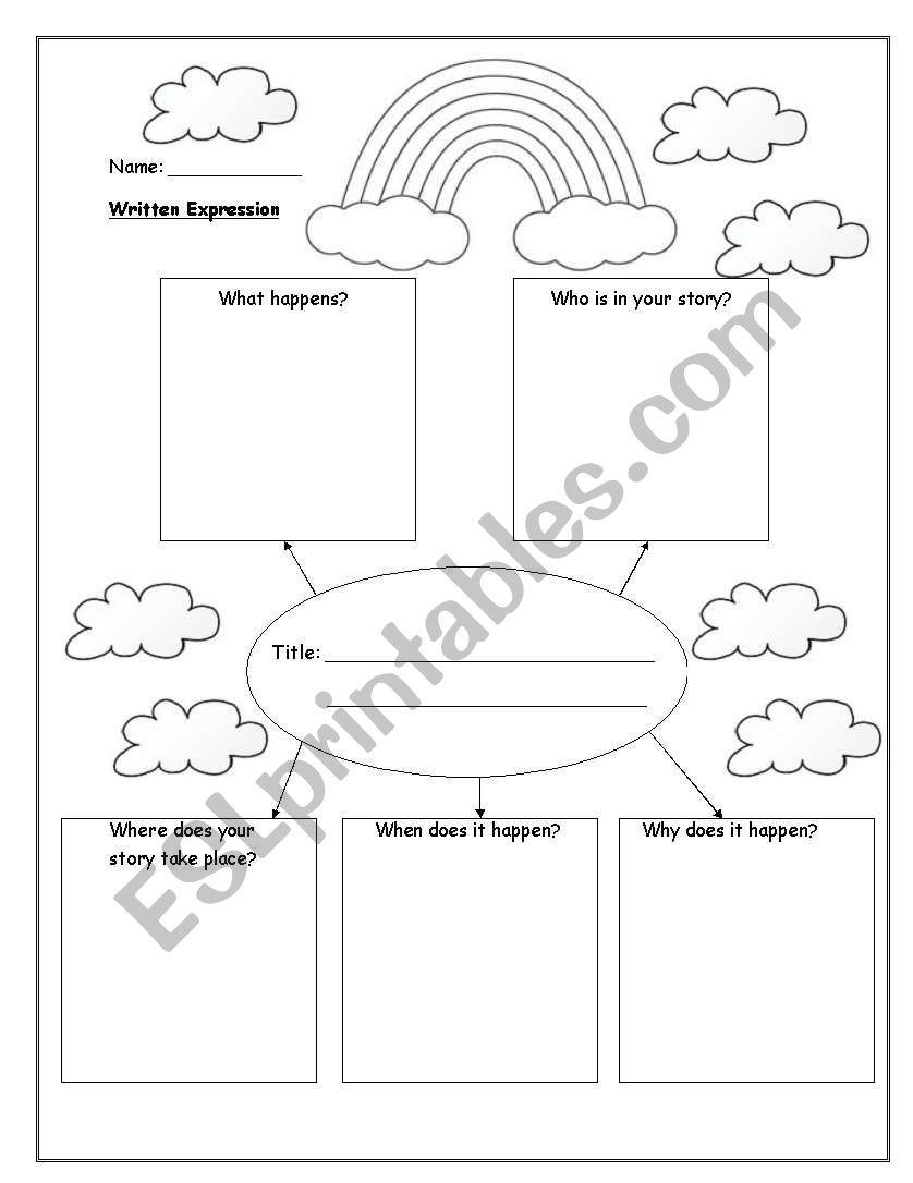 story mind map esl worksheet by lainewoodhouse. Black Bedroom Furniture Sets. Home Design Ideas