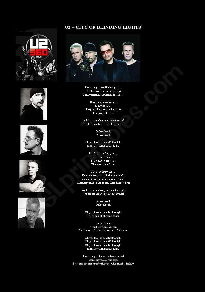 Listening - U2 - City of Blinding Lights - Filling the gaps.