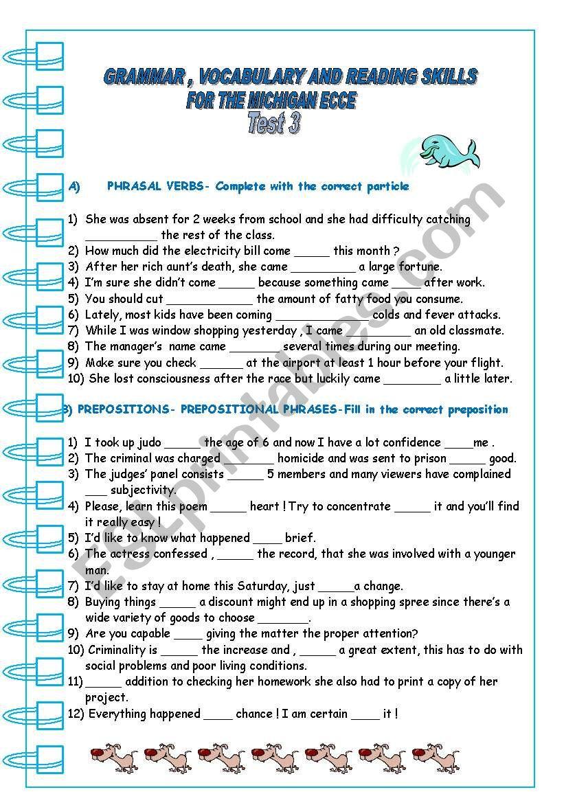 ECCE PRACTICE 3 worksheet
