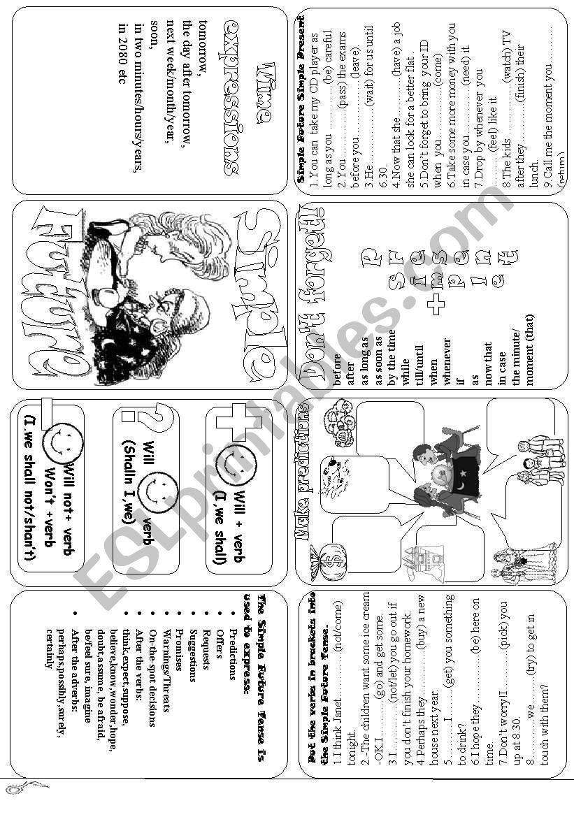 Simple Future minibook worksheet