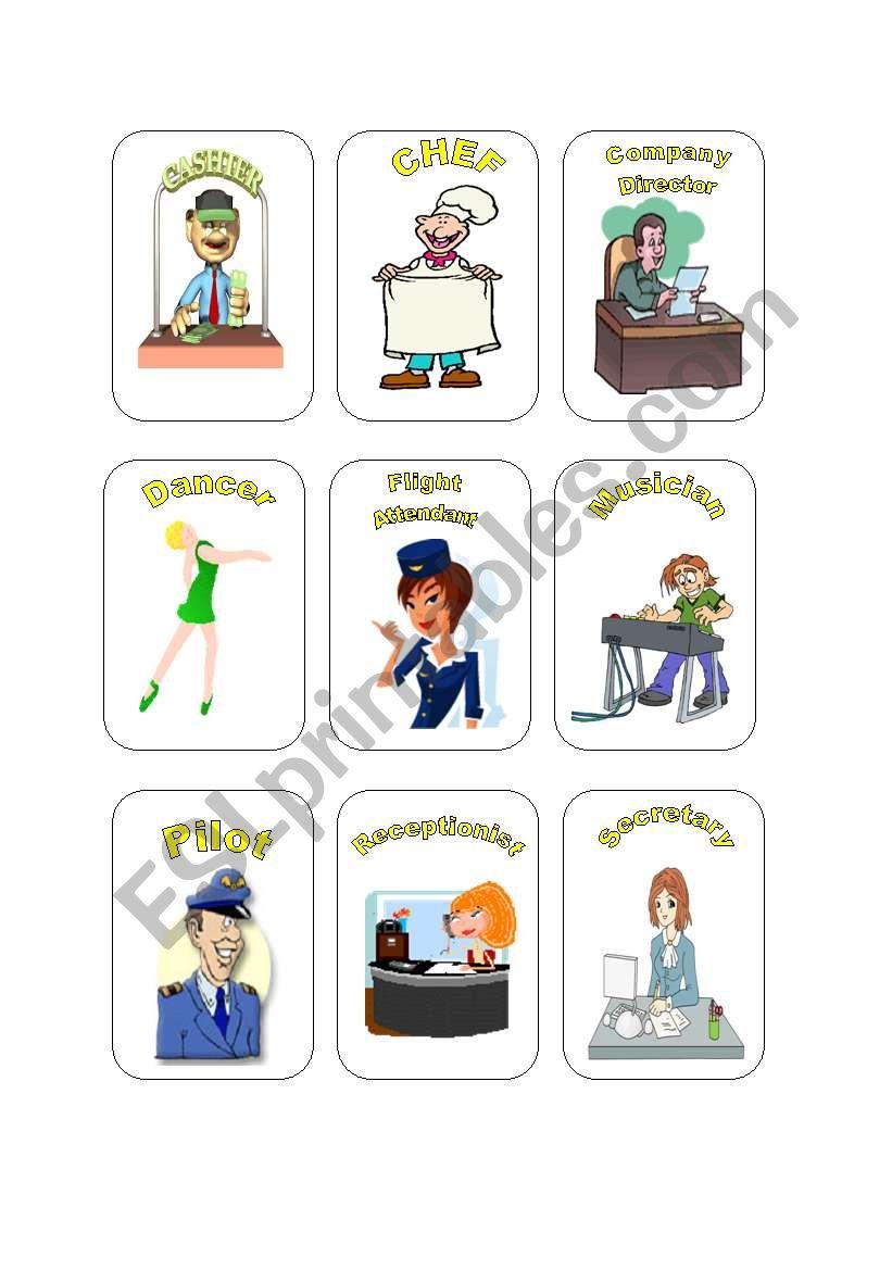 Job Cards Set #1 worksheet
