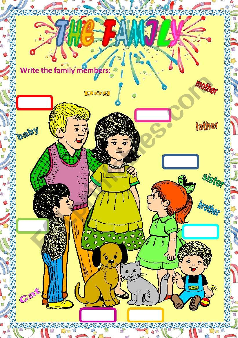THE FAMILY MEMBERS worksheet