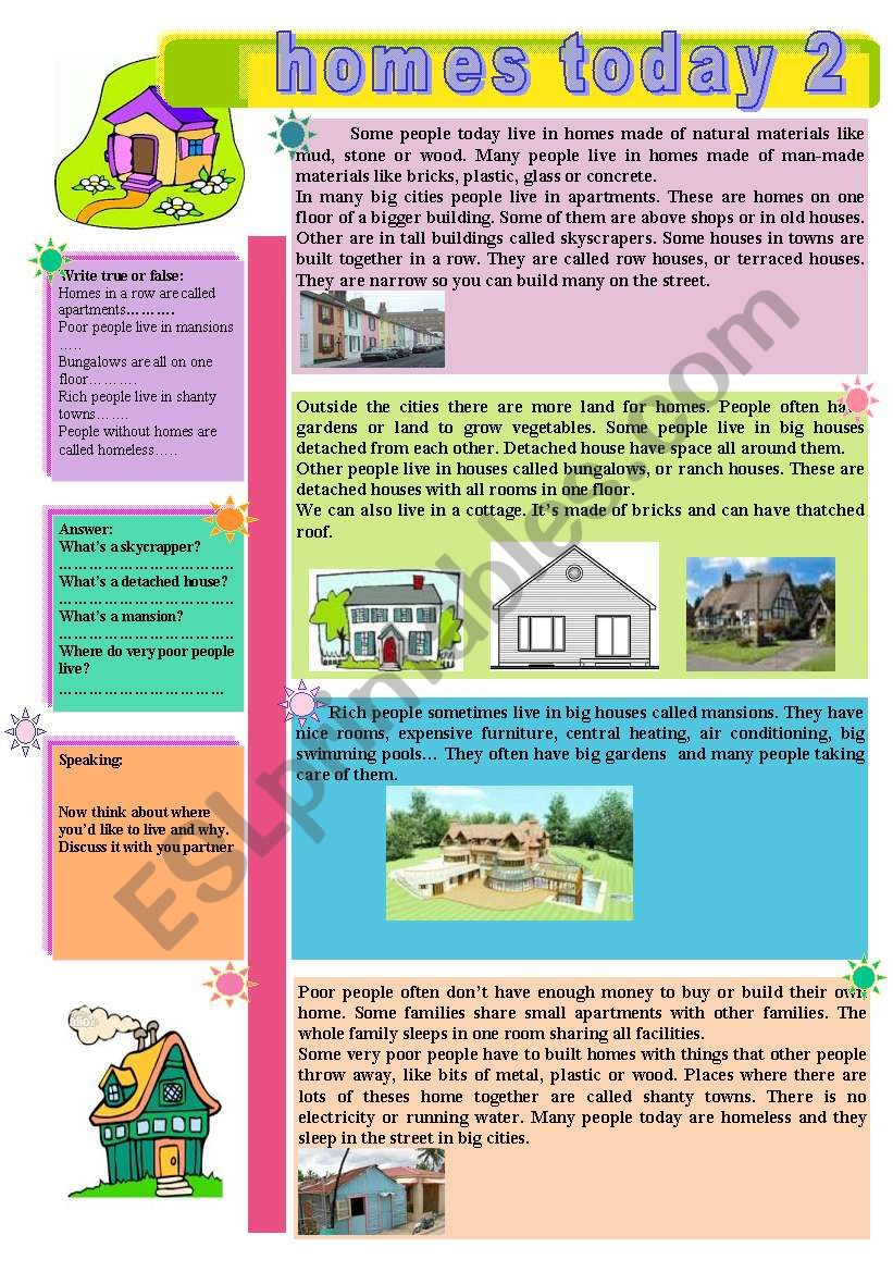 Homes today 2 worksheet