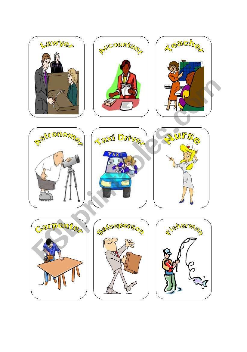 Job Cards Set #3 worksheet