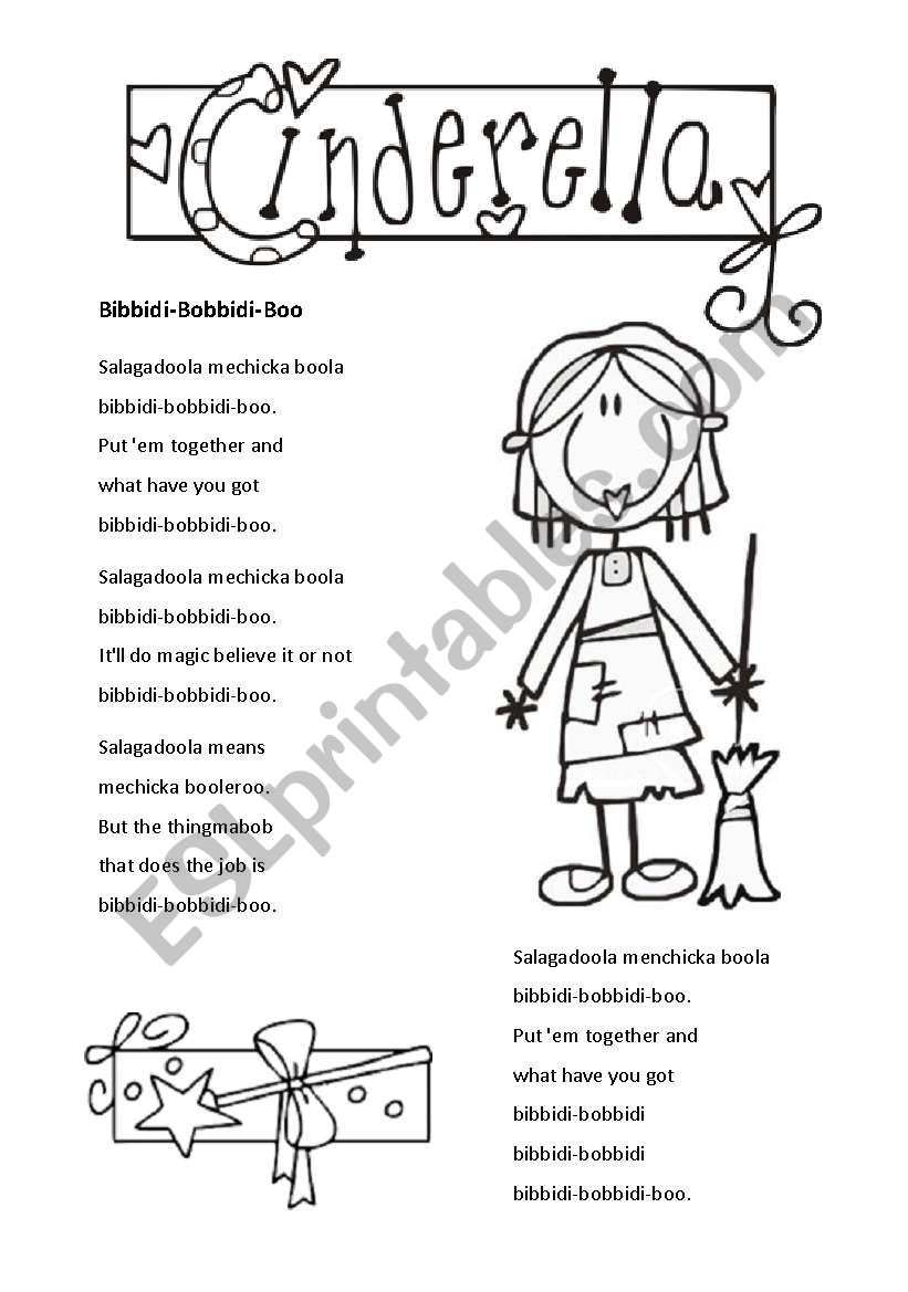 Cinderella 1 of 3 worksheet