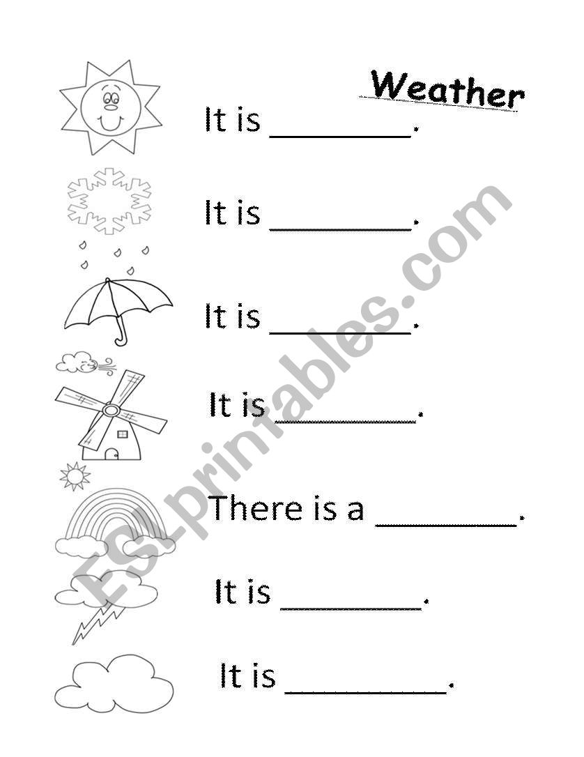 how is the weather esl worksheet by koreacev. Black Bedroom Furniture Sets. Home Design Ideas