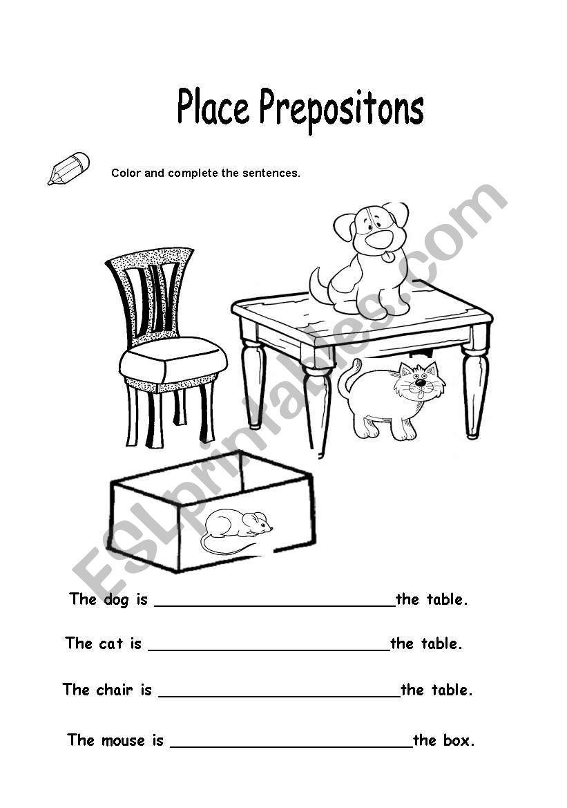 place prepositions - ESL worksheet by mellizabeth113