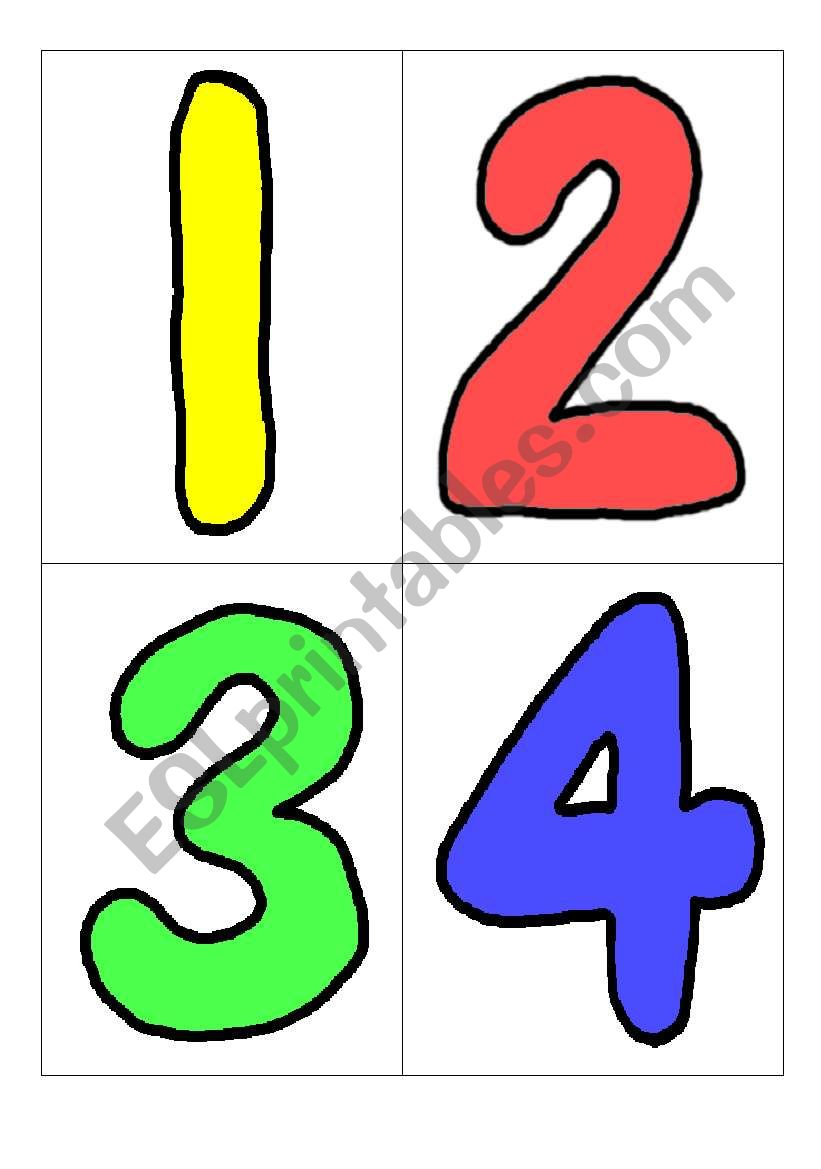 graphic relating to Printable Number Flashcards titled Figures flashcards with wordcards. - ESL worksheet as a result of gacia8