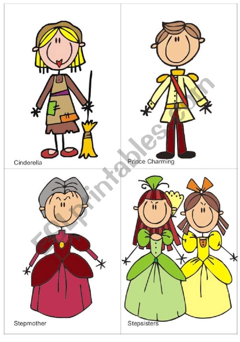 Cinderella flash-cards worksheet