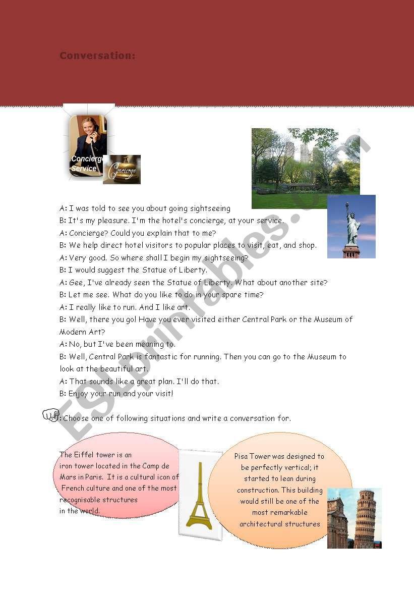 concierge worksheet