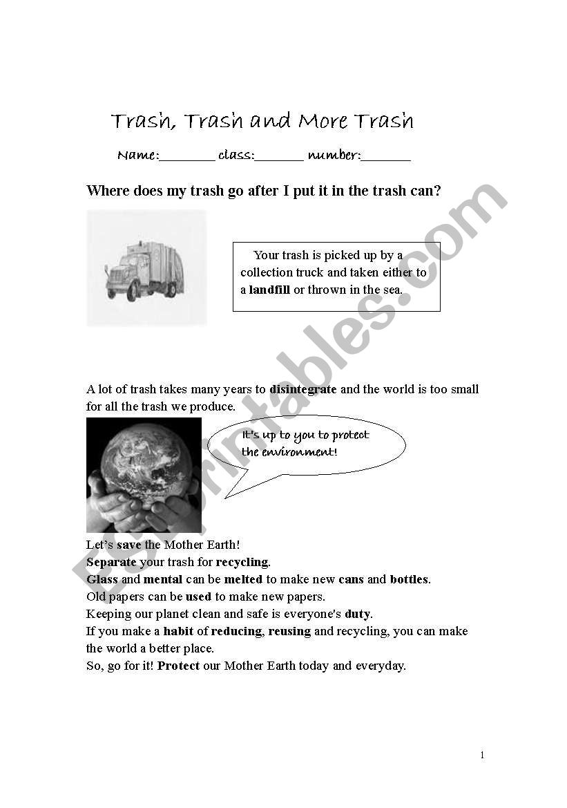 environment protection learning worksheet esl worksheet by tomatojuice. Black Bedroom Furniture Sets. Home Design Ideas