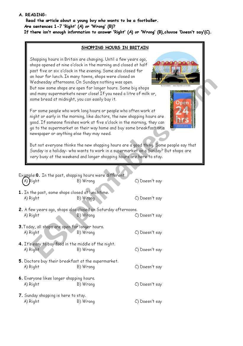 KET Practice Test worksheet