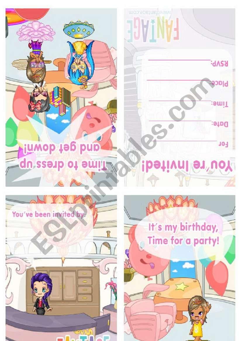 birthday invitation worksheet