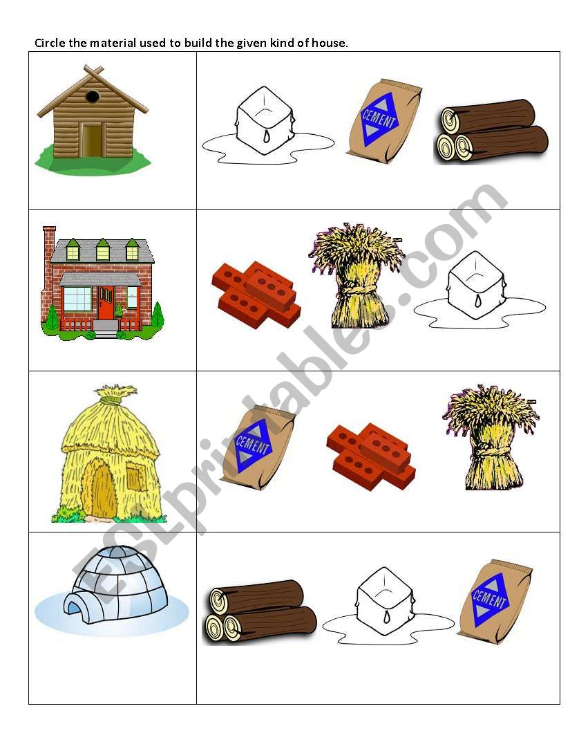 furthermore Image also Manufactured Home In Country in addition Winter Vocabulary Esl Matching Exercise Worksheet For Kids Icon together with Big Quiz Unusual Types Of Homes. on types of homes worksheet