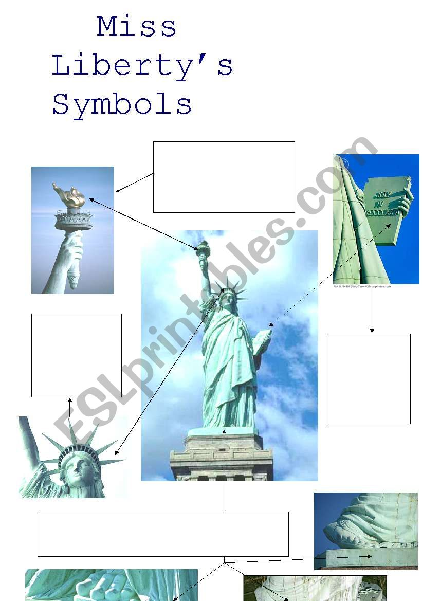 Miss Liberty´s Symbols worksheet
