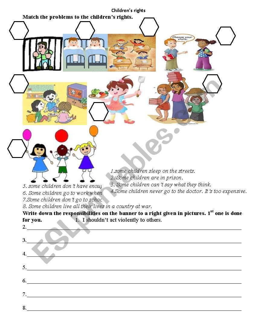 Children´s rights - ESL worksheet by emi123