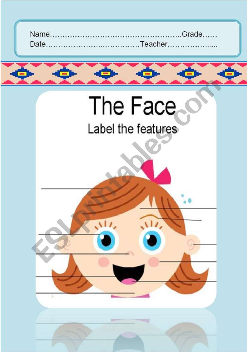 The face & body parts worksheet