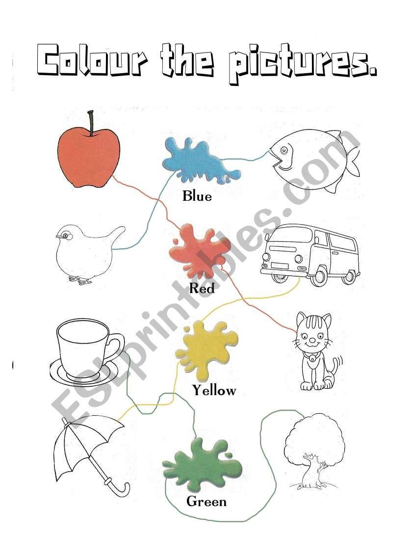 - Colours - Kindergarten - ESL Worksheet By Douwes