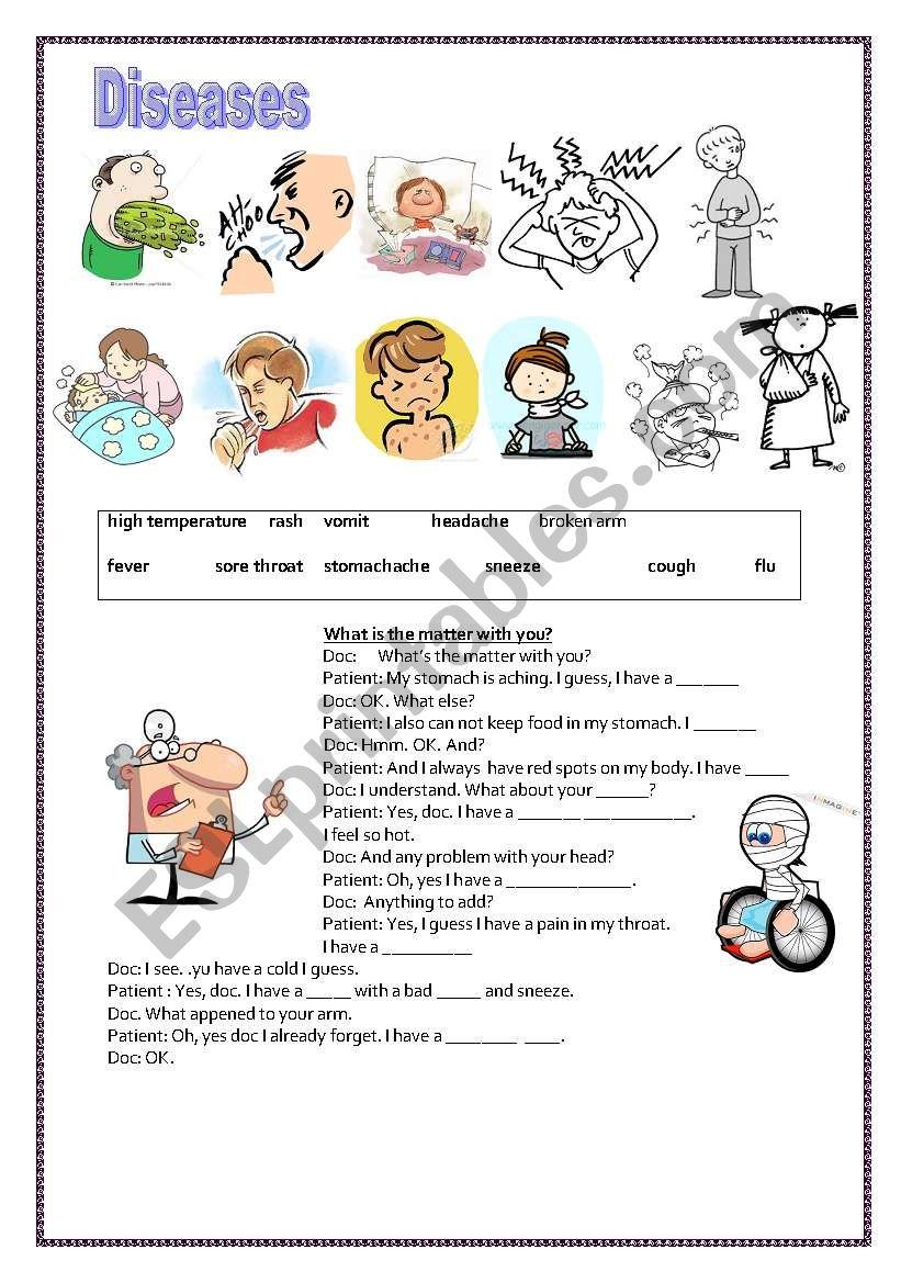 diseases worksheet