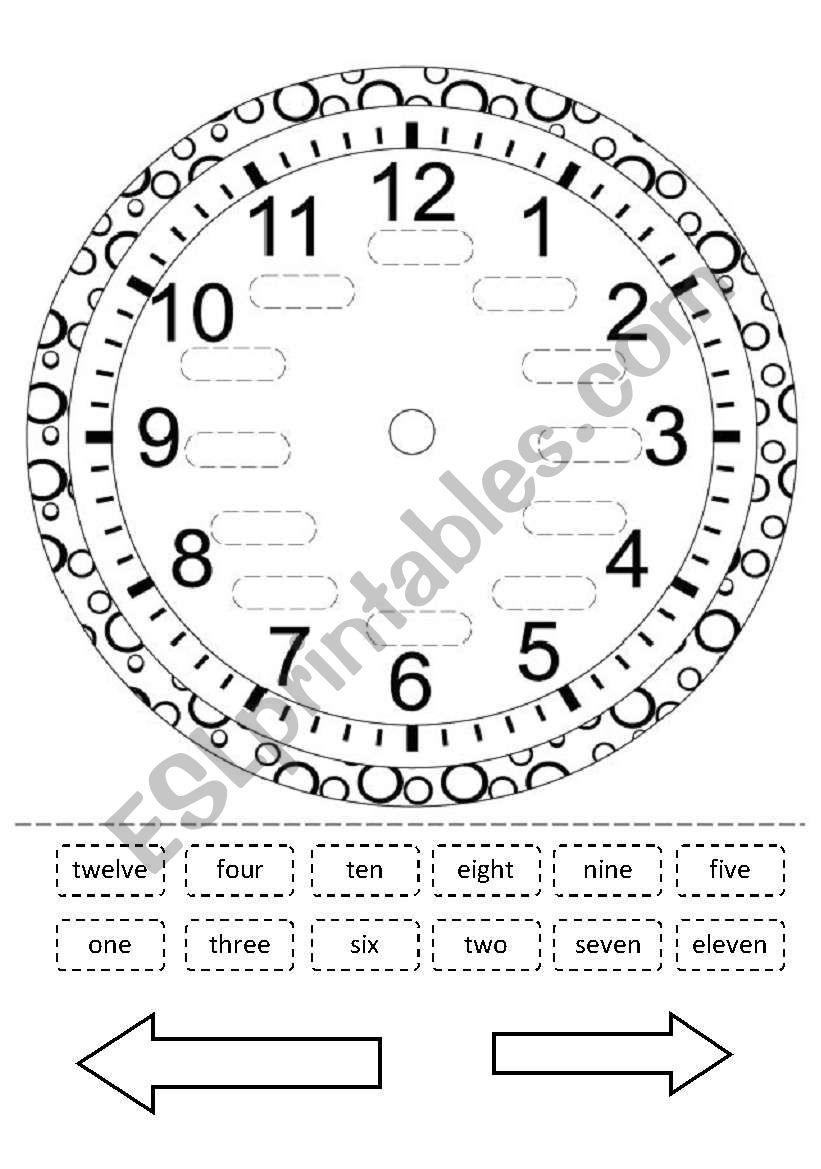 clock esl worksheet by arantxafer1. Black Bedroom Furniture Sets. Home Design Ideas