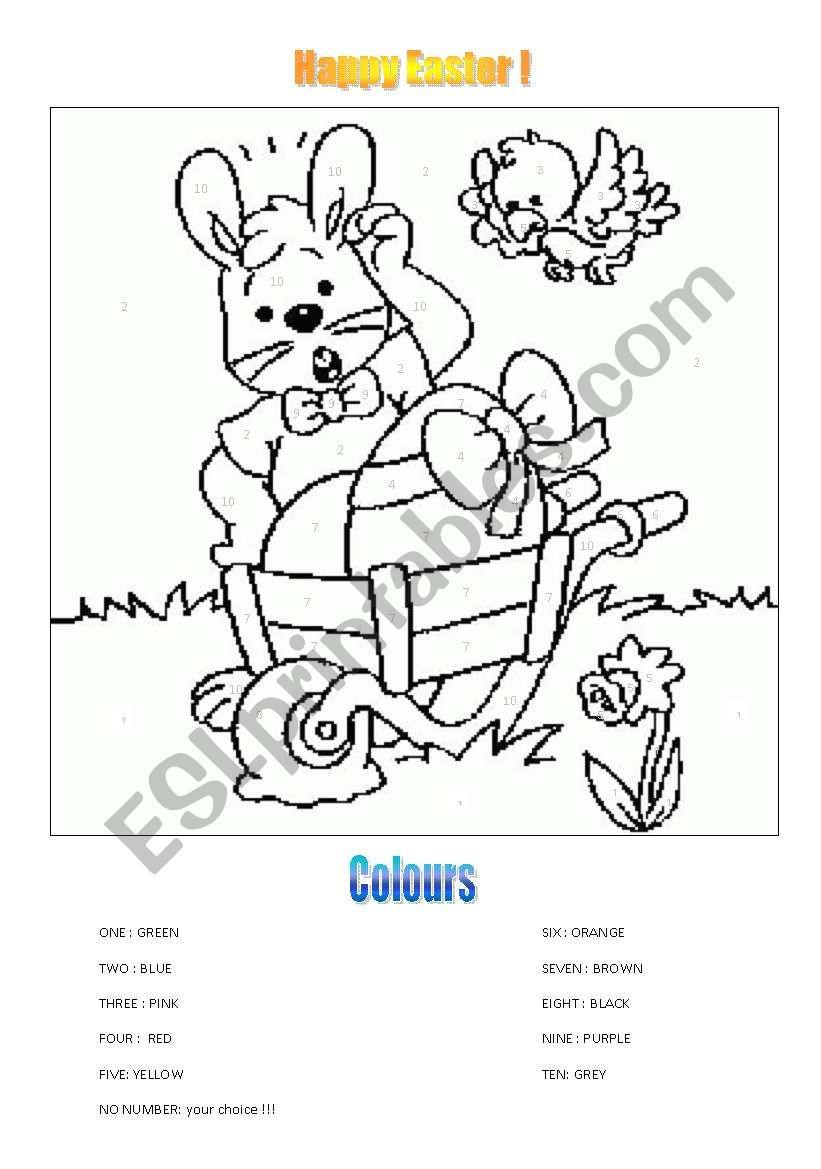 Happy Easter ! worksheet