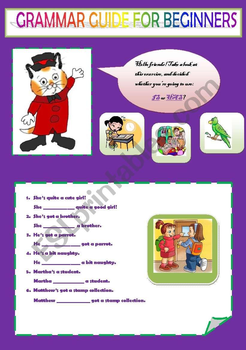 Grammar Guide For Beginners Esl Worksheet By Ascincoquinas
