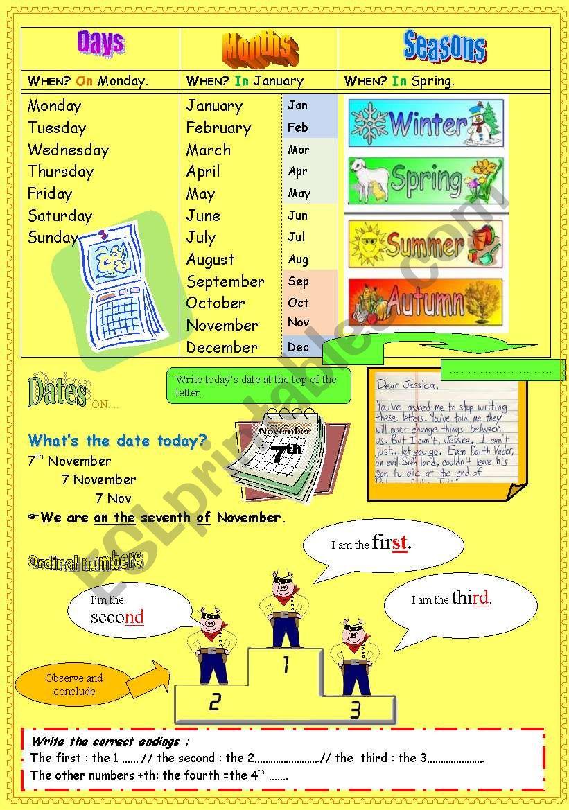 practising the date part 1 worksheet