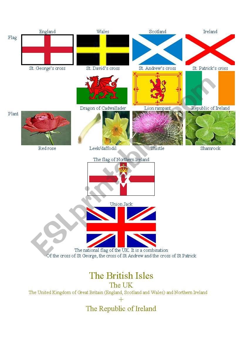Symbols of Great Britain worksheet