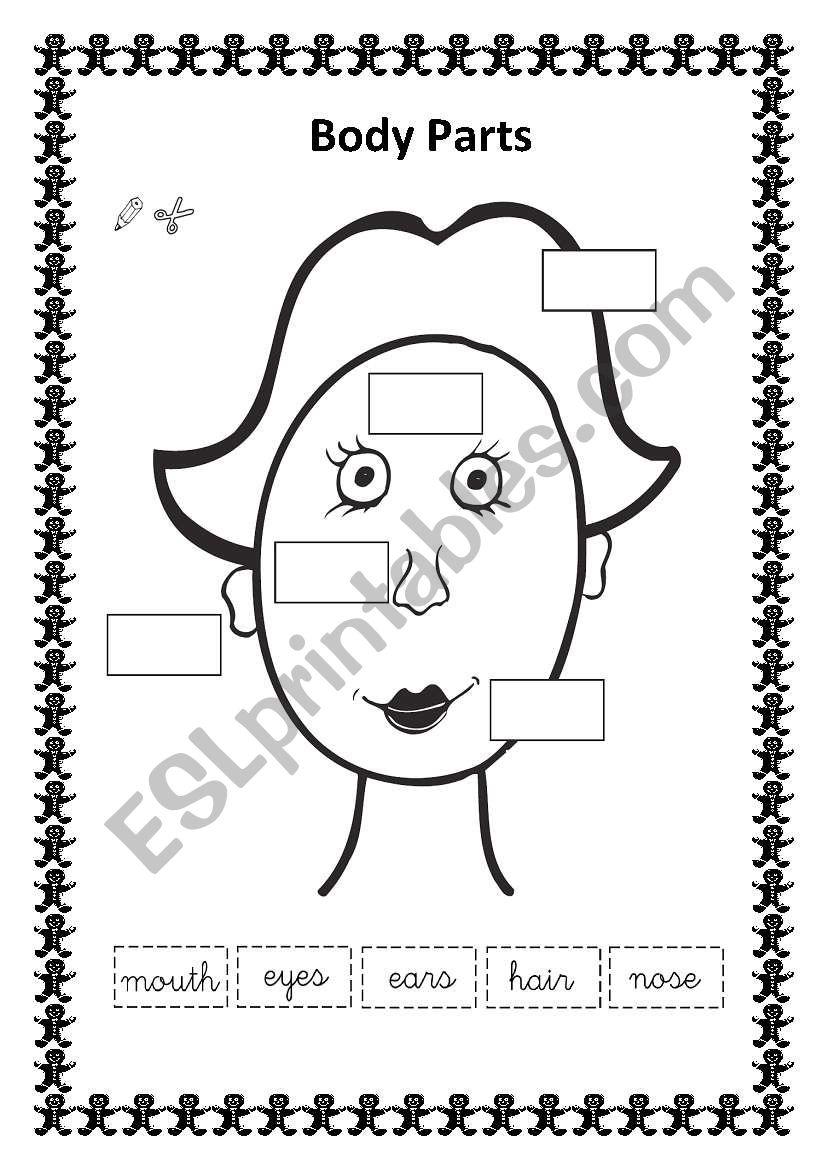 Parts Of The Face Worksheet For Kindergarten Pdf