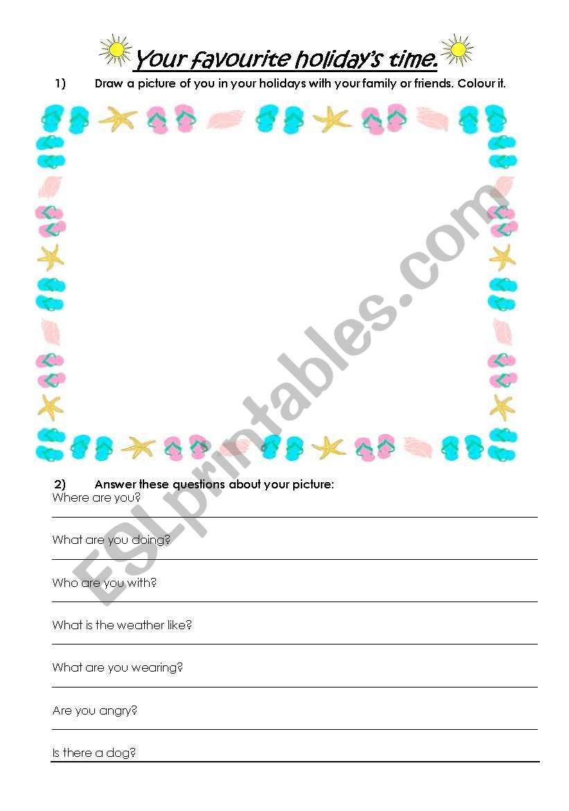 Your Favourite Holiday´s Time worksheet