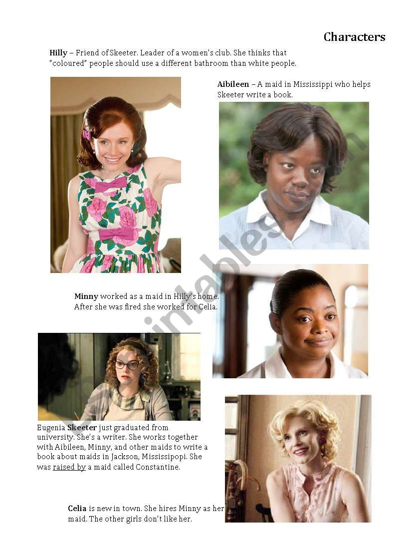 the help movie worksheet kidz activities