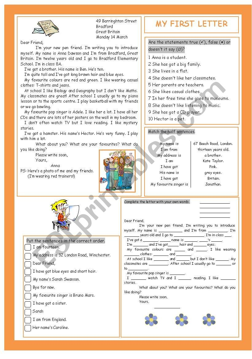 My First Letter worksheet
