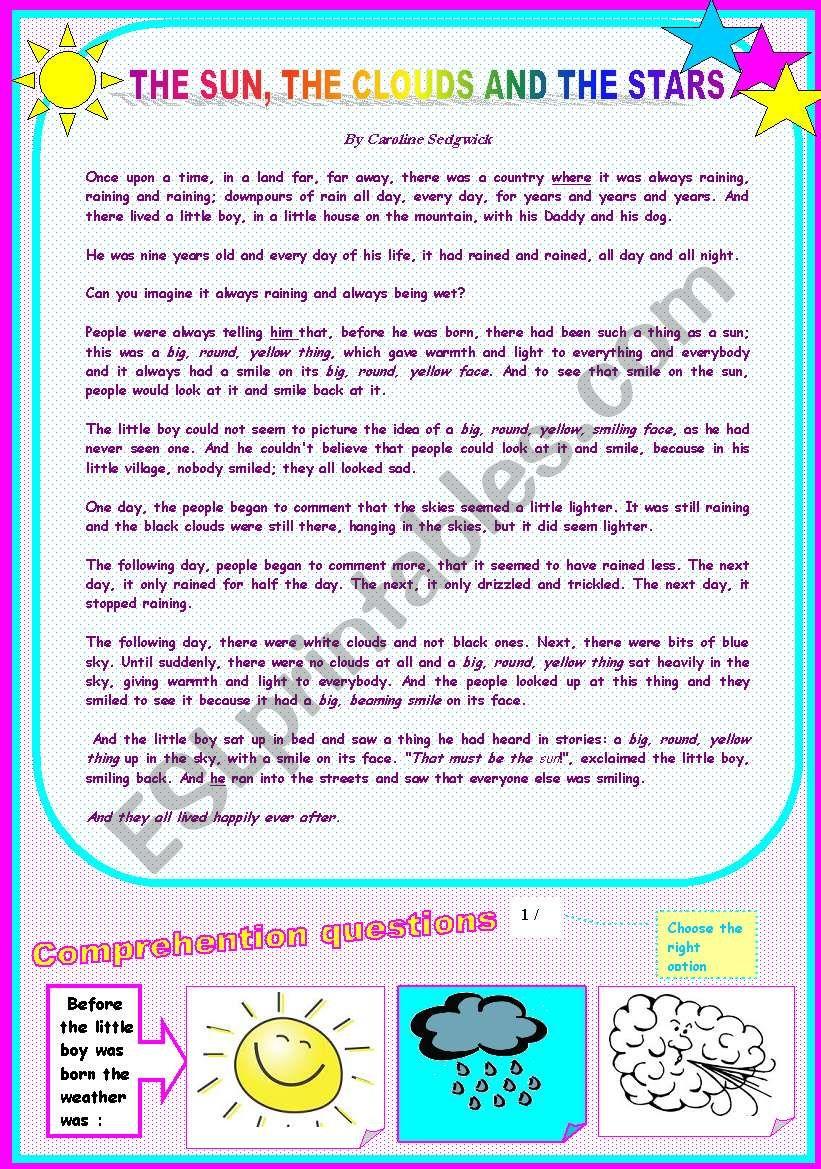 a short story worksheet