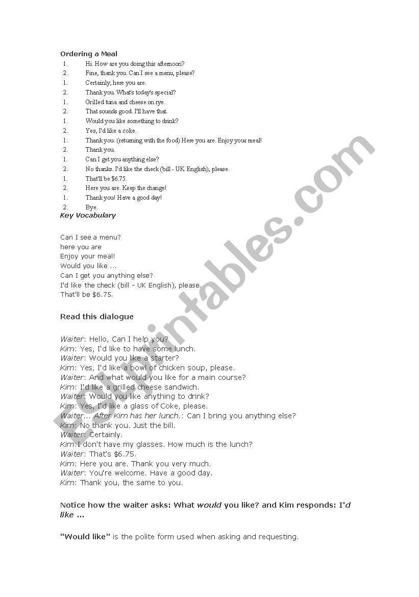 Table Manners Esl Worksheet By Antonypamo