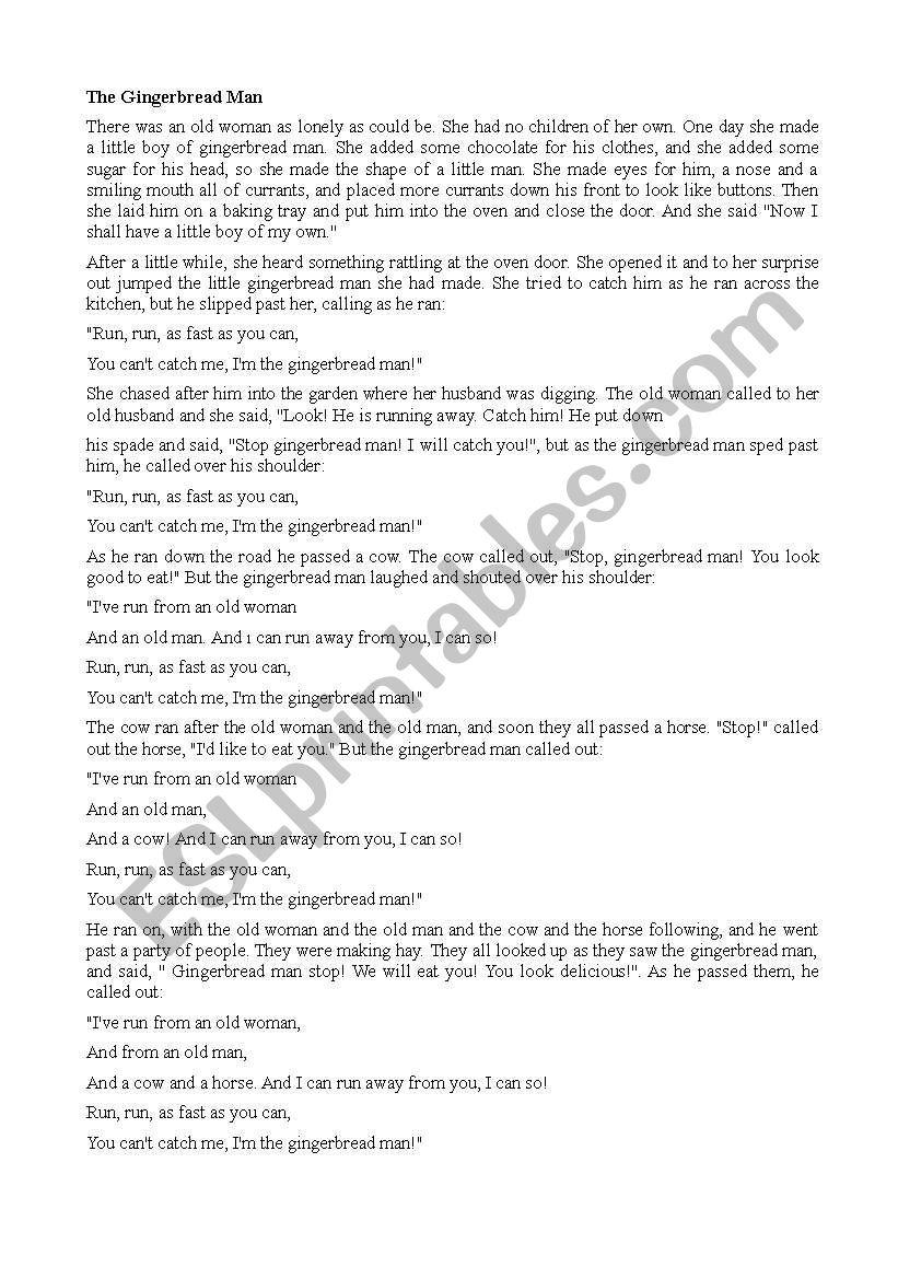 story telling worksheet