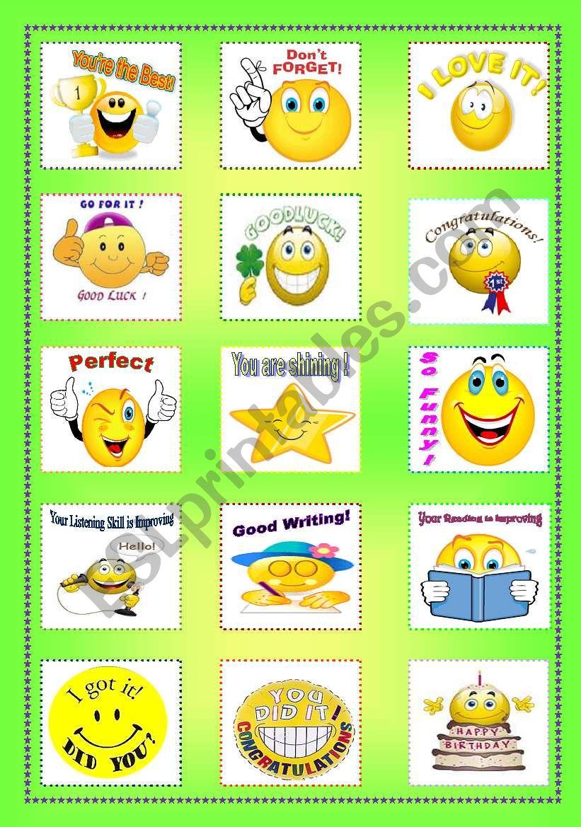 Teacher Reward Stickers  worksheet
