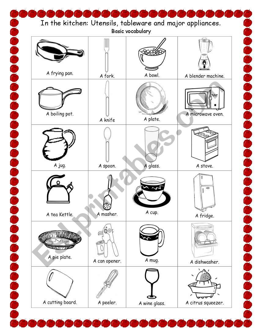 In The Kitchen Esl Worksheet By Ly28