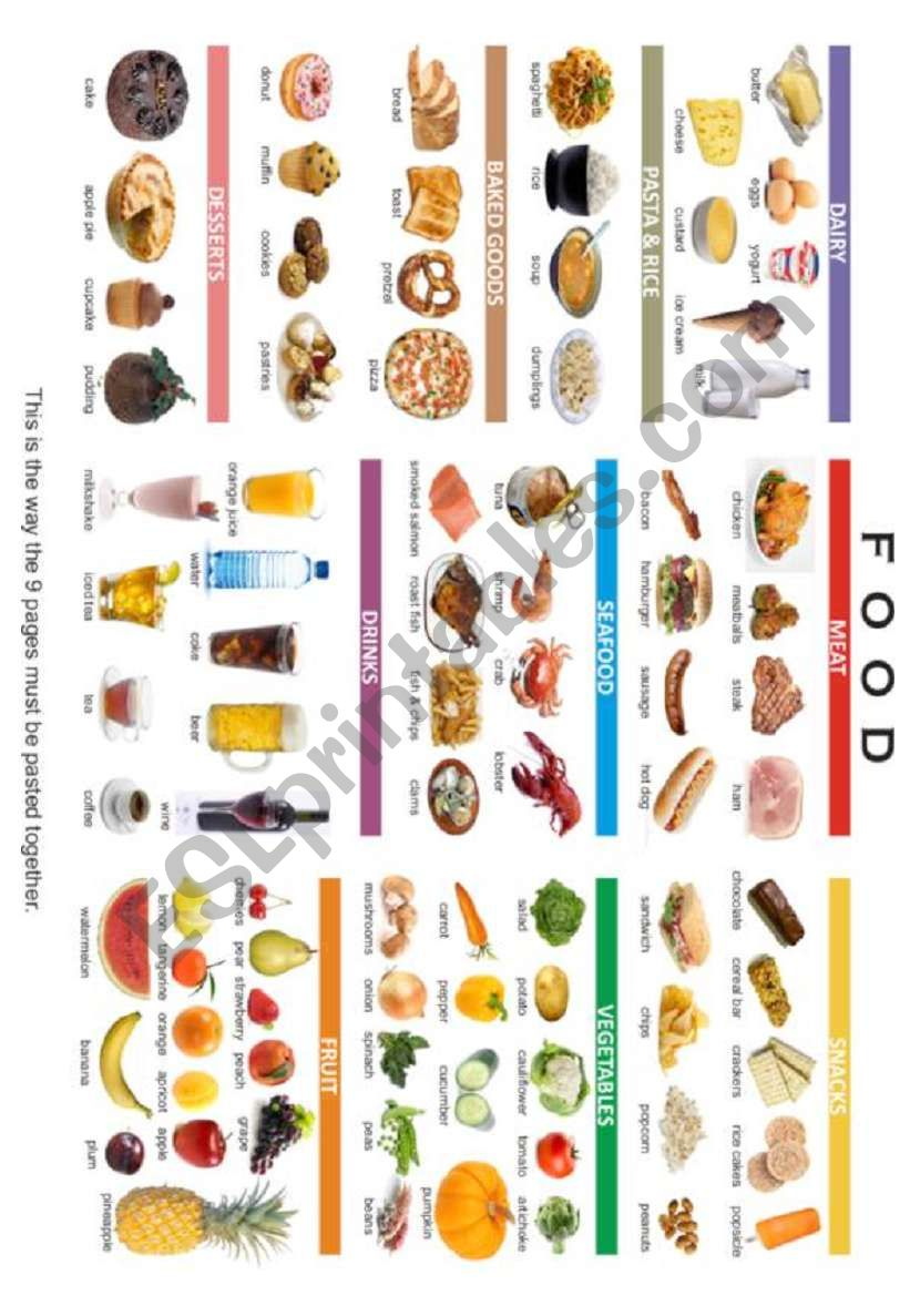 FOOD POSTER 1/3 worksheet