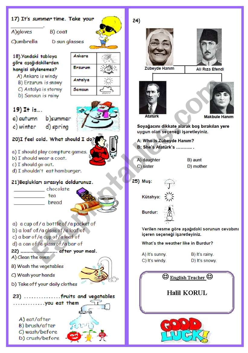 6th grade 2nd term 1st exam part two (2/2)