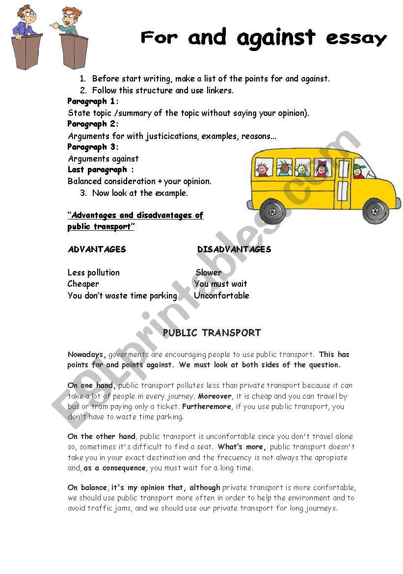 Advantages and disadvantages of public transport
