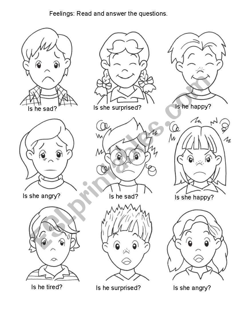 Feelings 2 worksheet