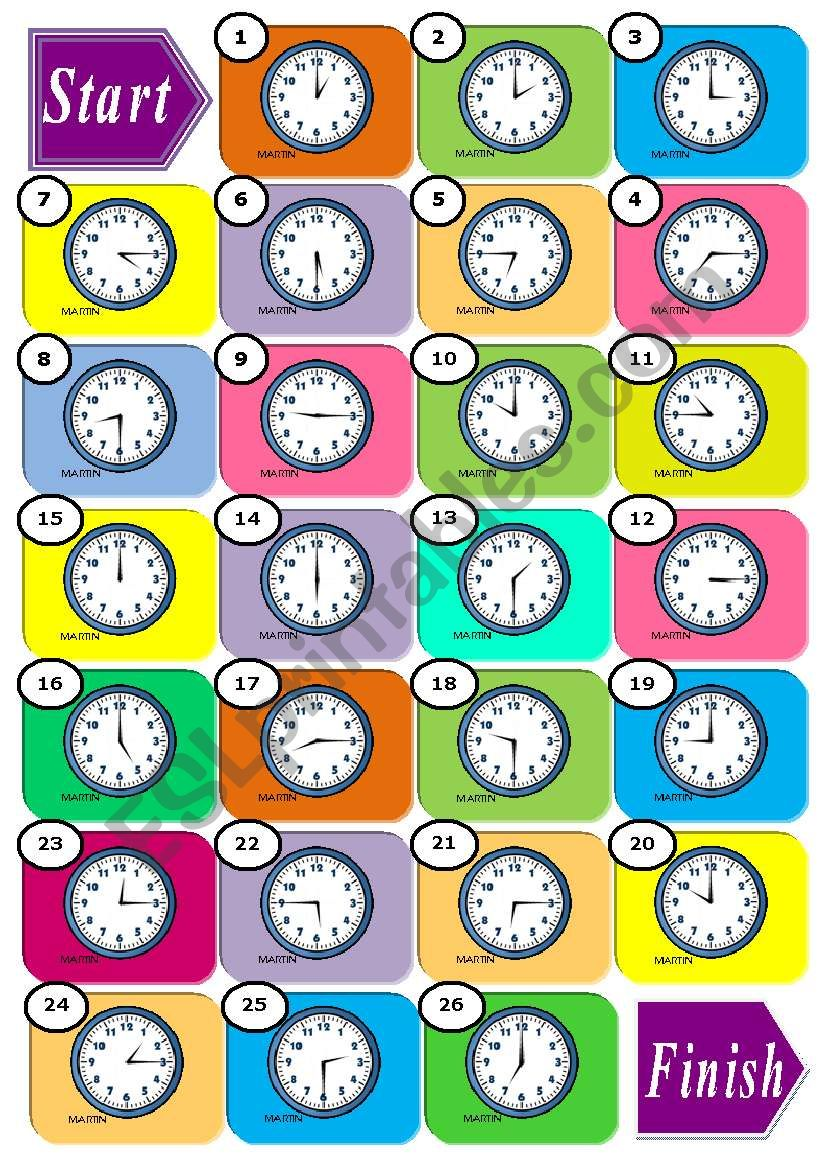 *** The Time Boardgame *** worksheet